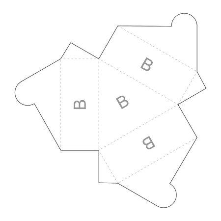 Paper box blueprint template Vecteurs
