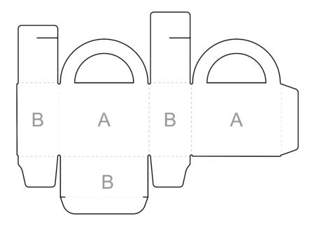 Paper box blueprint template