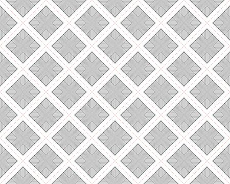 Vector seamless geometric line squares texture wall. Ilustração Vetorial