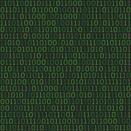 Vector seamless green binary code background