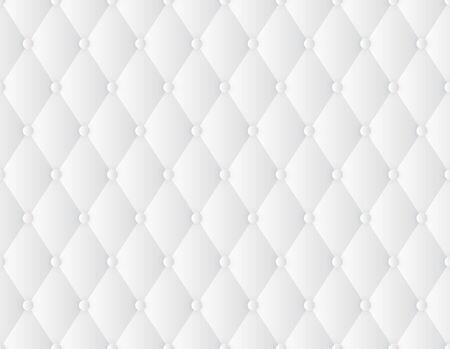 Vector seamless texture decorative upholstery soft gloss quilted background. Luxury template with gold thread. White background. Vector Illustratie