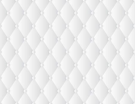 Vektor nahtlose Textur dekorative Polsterung weichen Glanz gesteppten Hintergrund. Luxusschablone mit Goldfaden. Weißer Hintergrund. Vektorgrafik