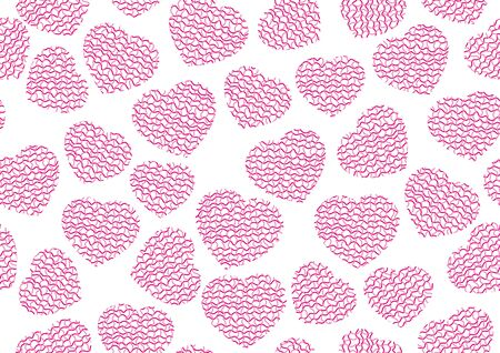 Vector heart love seamless pattern background. Çizim
