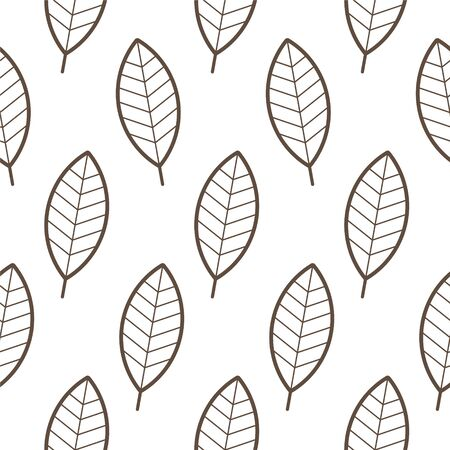 Vector repeating geometric mosaic from leaves. Isolated on white background.