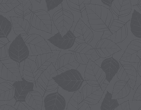 Seamless texture with autumn leaf theme. Dark gray background.  イラスト・ベクター素材
