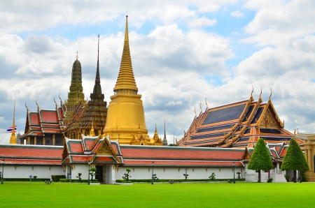 grand pa: Temple of the Emerald Buddha  Wat Phra Kaew , Bangkok Thailand  Stock Photo