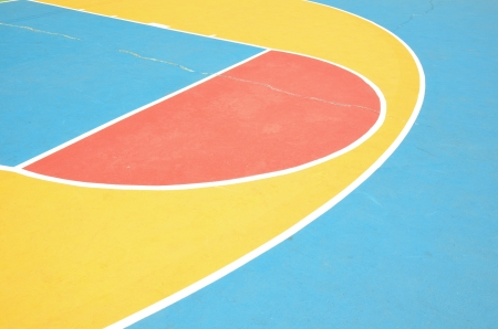 colorful outdoor basketball court photo