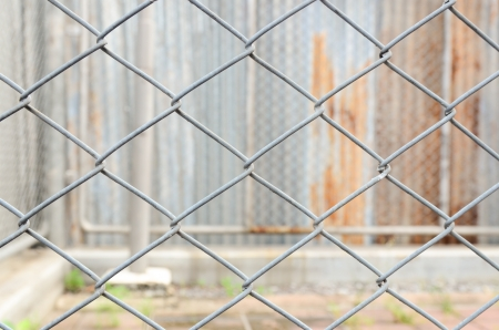 Barb wire on zinc background Stock Photo - 18840266
