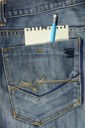 jeans pocket with notebook  photo