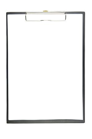 Black clipboard with blank sheet  photo