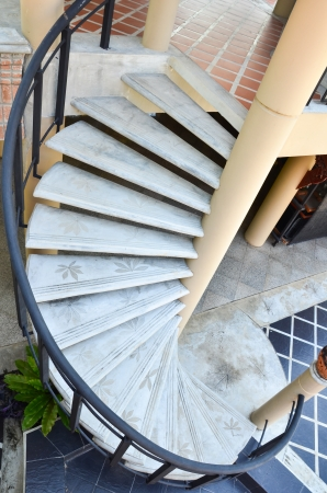 beautiful spiral stone staircase  photo