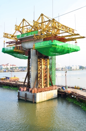 basis: construction site in the river
