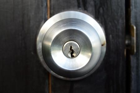 ステンレス鋼ボールのドアのノブ 写真素材