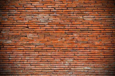 red brick wall as background