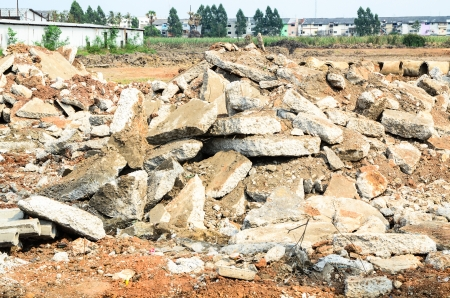demolish: Old demolish concrete
