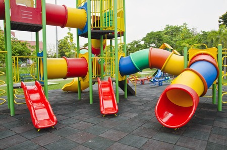 colorful children playground photo
