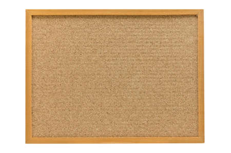 pinboard: cork board with a wooden frame isolated on white background