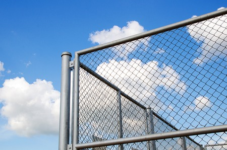 link fence: Steel grating fence
