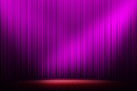 purple stage light as background Stock Photo