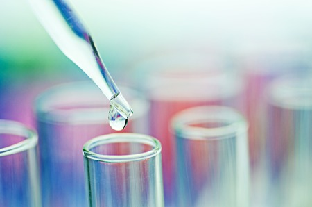 science laboratory test tubes Stock Photo