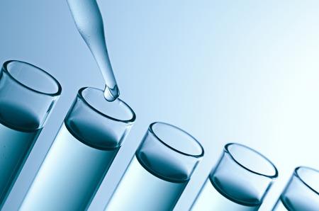 science laboratory test tubes Archivio Fotografico