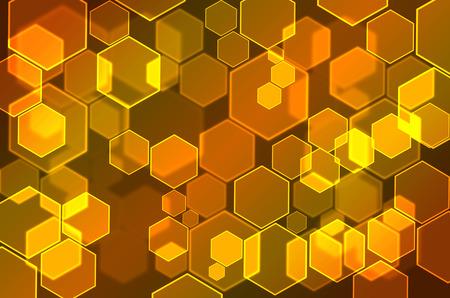 Hexagon Bubbles bokeh background
