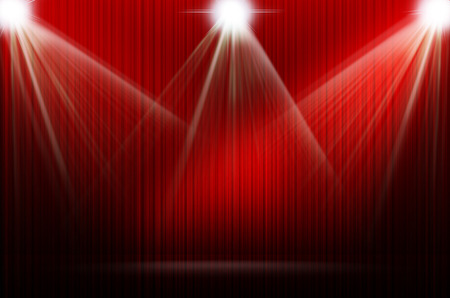 stage decoration abstract: red stage light as background Stock Photo