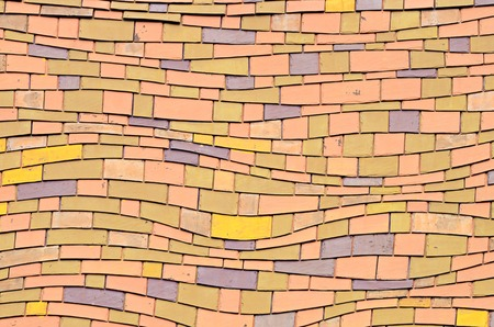 Old brick roof tiles photo