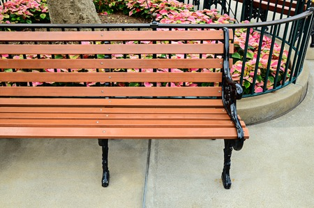 wood bench: wood bench in park
