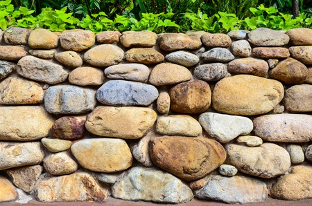 clay brick: stone wall background Stock Photo