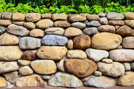 brick house: stone wall background Stock Photo