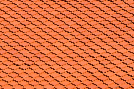 red clay: Red Clay Tile Roof as background