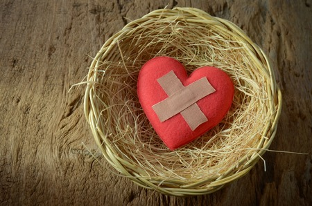 wounded: wounded heart in basket