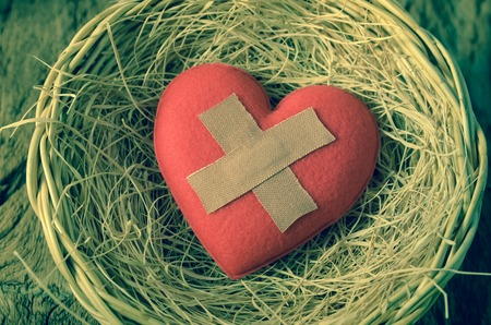 wounded heart: wounded heart in basket