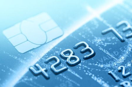card payment: part of credit card for business background Stock Photo