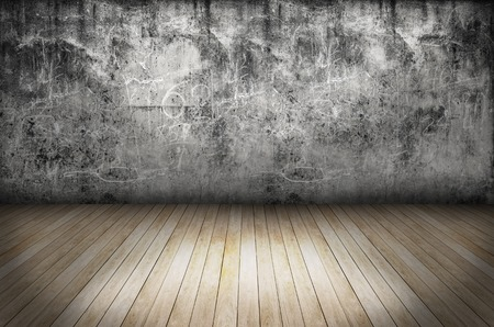 industry moody: Texture of Old grunge wall and wooden floor