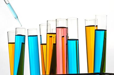 science laboratory test tubes Stok Fotoğraf