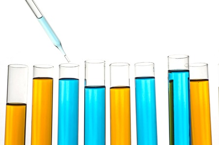 science lab: science laboratory test tubes Stock Photo