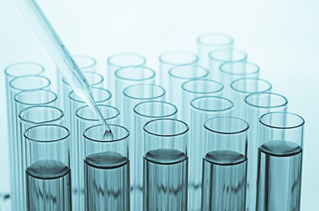 science laboratory test tubes Standard-Bild