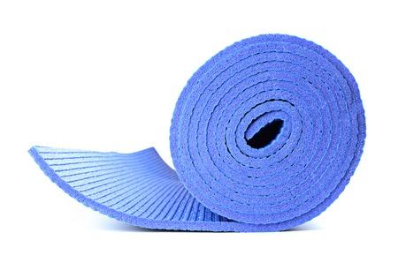 whitebackground: yoga mat for exercise on white background