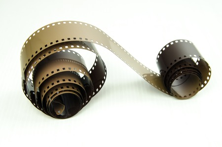 film strip: photo film on white background
