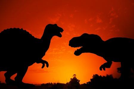 munch: Silhouette of Dinosaur