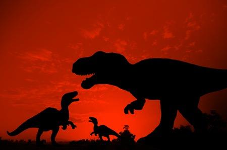 tyrannosaur: Silhouette of Dinosaur