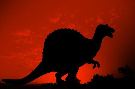 gnaw: Silhouette of Dinosaur