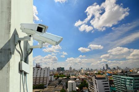 Surveillance Security Camera or CCTV Archivio Fotografico