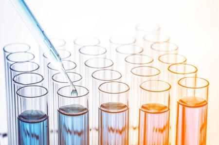 Tubes à essai de laboratoire de la science Banque d'images - 43682156
