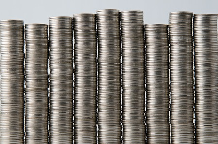 coin stack: coin stack background Stock Photo
