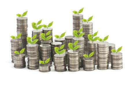 money saving: Growing Stack of coins , Saving plan