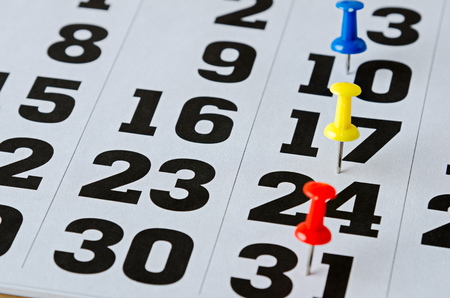 marked: marked date on calendar