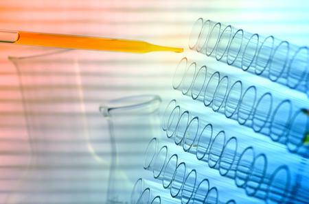 laboratory glass: laboratory test tubes